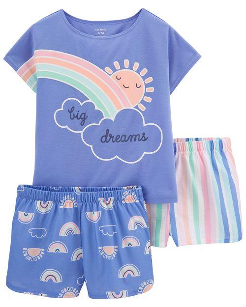 Pijamas Ajuste Suelto Arcoíris 3 Piezas Carter's