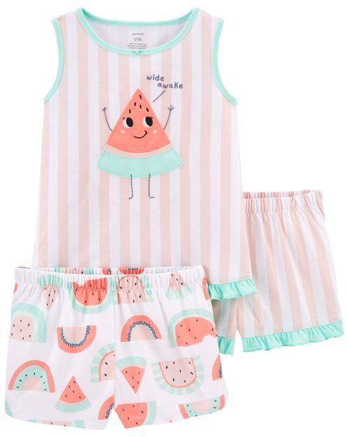 Pijamas Ajuste Suelto Sandía 3 Piezas Carter's