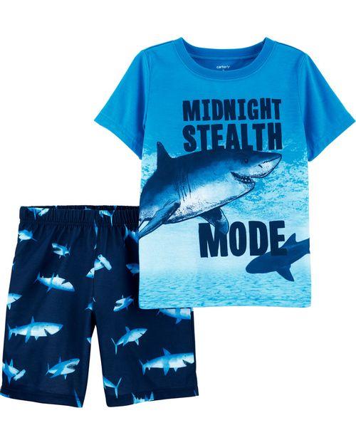 Pijama Tiburón 2 Piezas Carter's