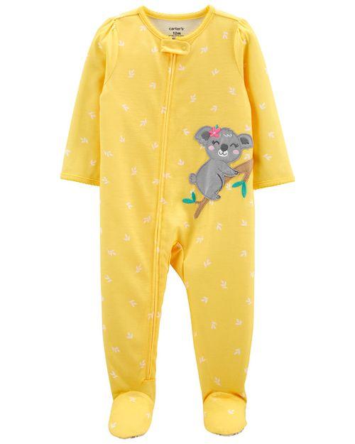 Pijama De 1 Pieza, Ajuste Suelto Con Pies, Diseño De Koala Carter's