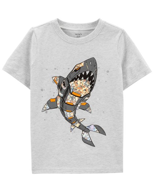 Playera De Jersey Con Diseño De Tiburón Carter's