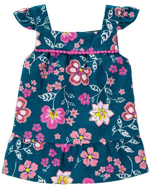 Blusa Floral De Lino Carter's