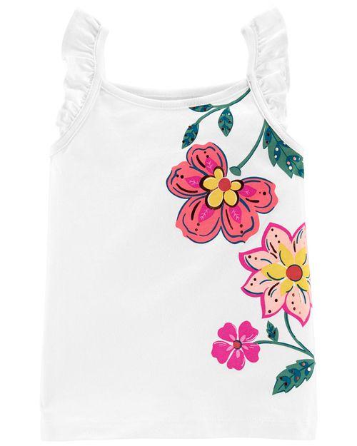 Blusa Sin Mangas Con Estampado Floral Carter's