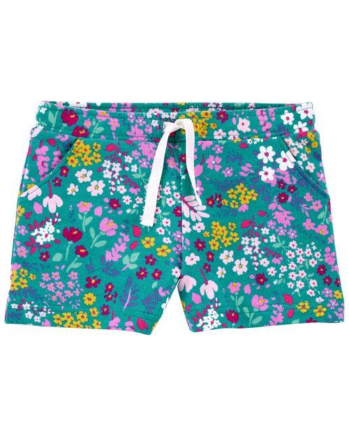 Shorts Con Cintura Elástica Y Diseño Floral Carter's