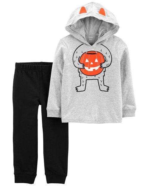 Conjunto De Playera Con Gorro Y Pantalones De Halloween De 2 Piezas Carter's
