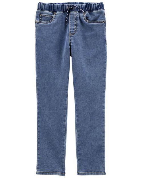 Pantalones Elásticos De Imitación De Mezclilla Carter's