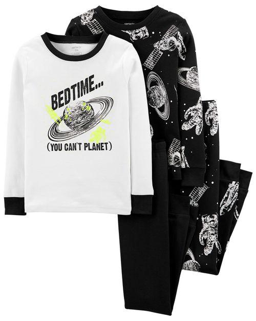 Pijama De Algodón, Space, 100% Ajuste Ceñido De 4 Piezas Carter's