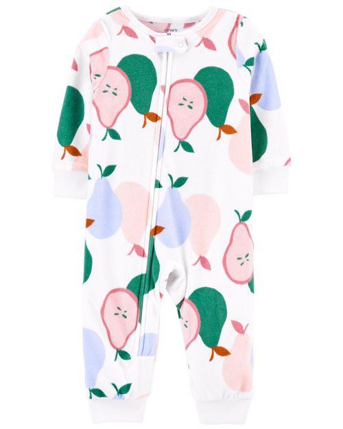 Pijama Polar Con Peras Sin Calcetines De 1 Pieza Carter's