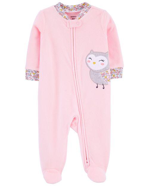 Pijama Polar Con Pies Y Estampado De Búho De 1 Pieza Carter's