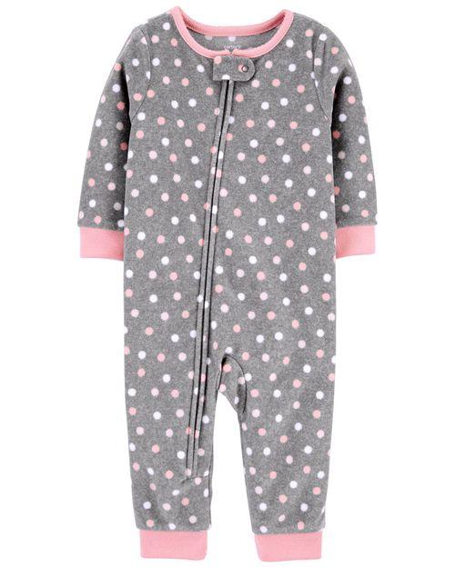 Pijama Polar Con Puntitos Sin Calcetines De 1 Pieza Carter's