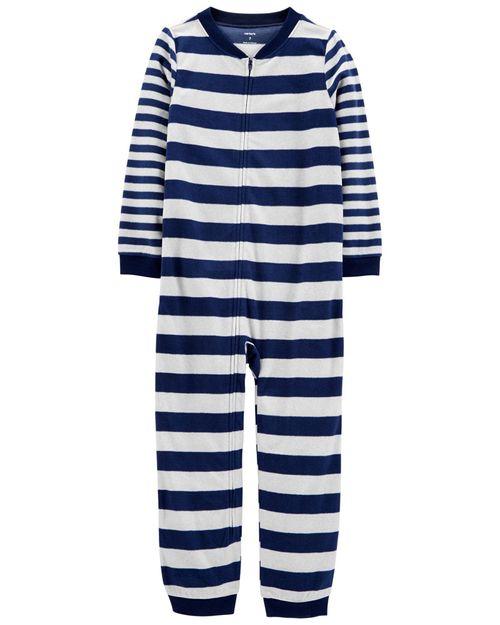 Pijama Polar Con Rayas Sin Calcetines De 1 Pieza Carter's