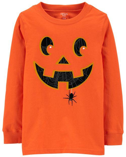 Playera De Jack-O-Lantern Brilla En La Oscuridad Halloween Carter's