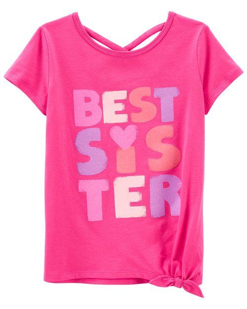 Playera De Jersey Best Sister Carter's