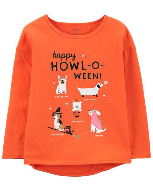 Playera De Jersey Brilla En La Oscuridad Halloween Carter's