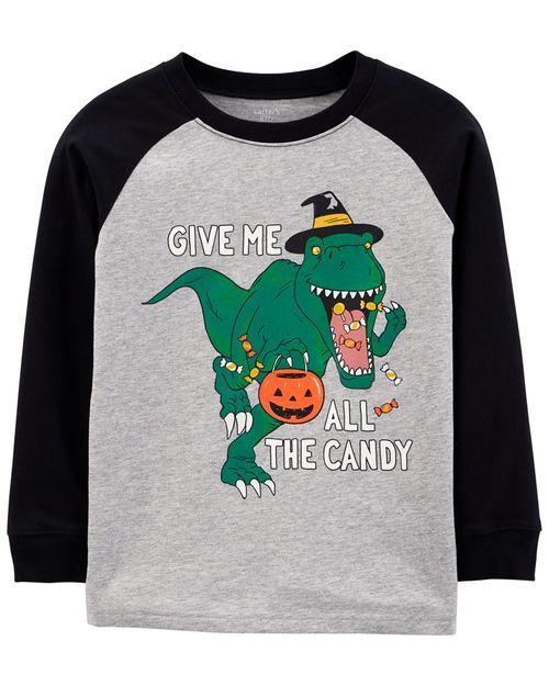 Playera De Jersey Con Estampado De Dinosaurios De Halloween Carter's