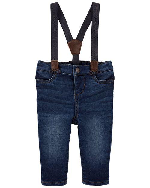 Jeans De Mezclilla Con Tirantes Oshkosh B'Gosh