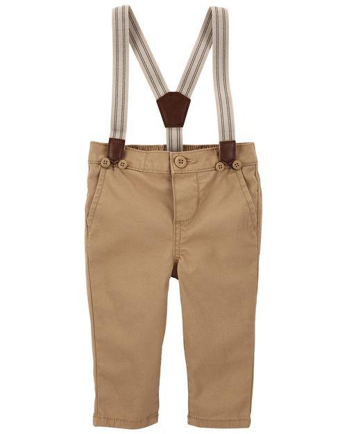 Pantalones Stretch Con Tirantes Oshkosh B'Gosh