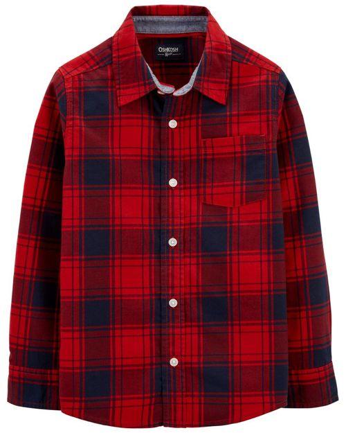 Camisa Con Botones Al Frente De Franela A Cuadros Oshkosh B'Gosh