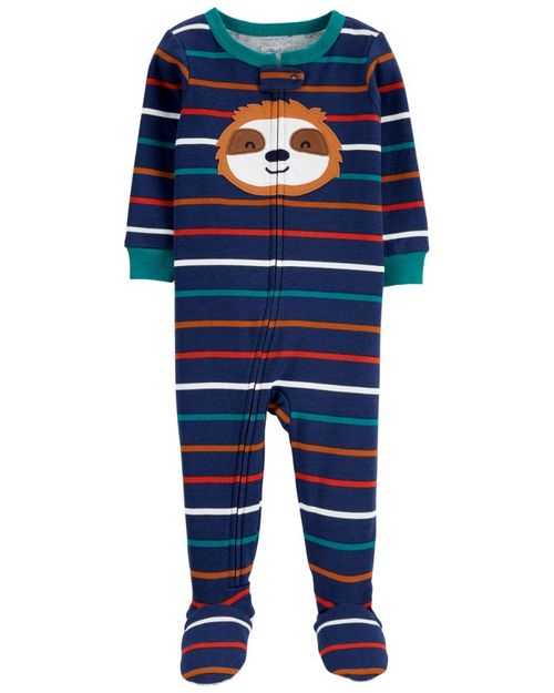 Pijama 100% Algodón Con Estampado De Perezoso Carter's