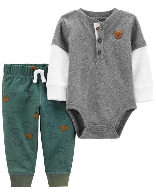 Conjunto De 2 Piezas Pantalón Con Pañalero De Oso Polar Carter's