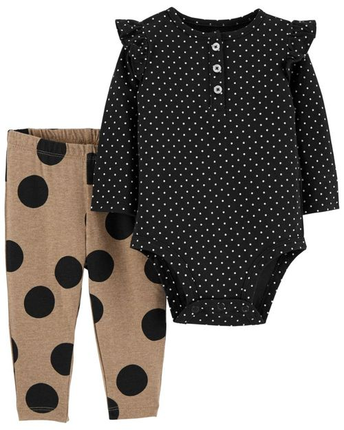 Conjunto De 2 Piezas Pantalón y Pañalero Lunares Carter's