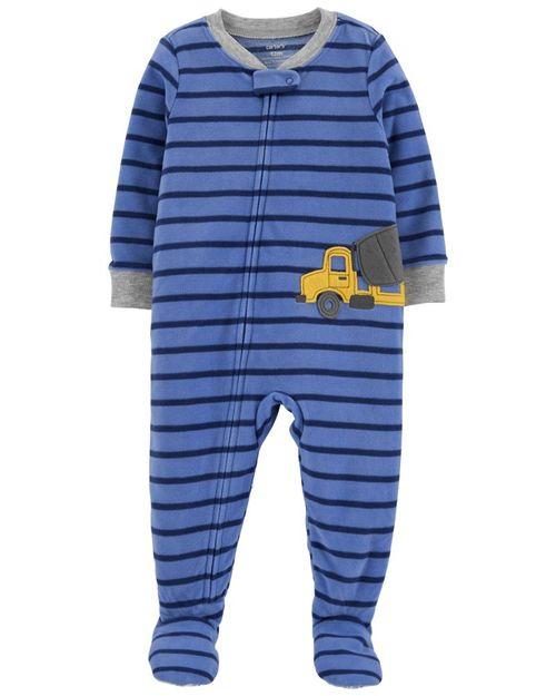 Pijama Fleece Con Diseño Carros De Construcción Carter's