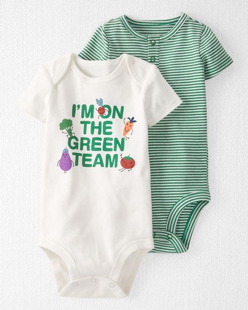 Paquete De 2 Pañaleros Cotton Green De Algodón Orgánico Carter's Little Planet