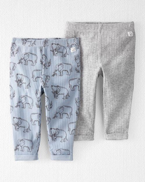 Paquete De 2 Pantalones De Algodón Orgánico Acanalado Carter's Little Planet