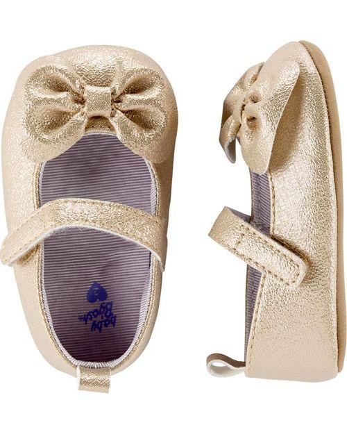 Zapatos Mary Jane para Bebé Moño Dorado Oshkosh B'Gosh