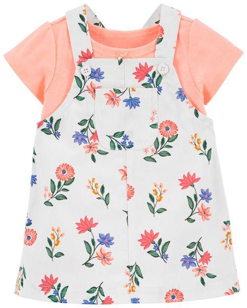 Conjunto de 2 prendas Falda y Pañalero Floral Carter's