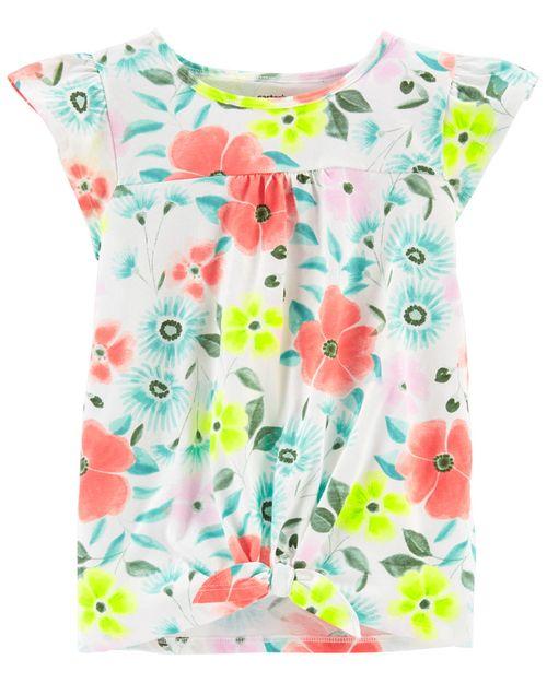 Blusa De Jersey Con Ojal Y Diseño Floral Carter's