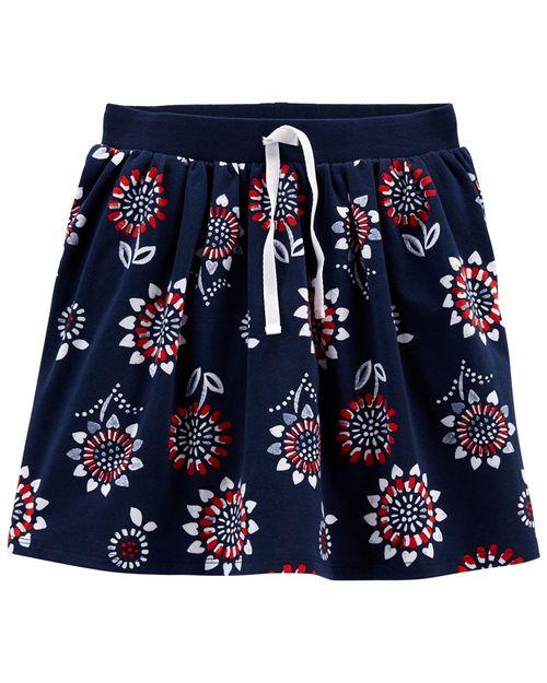 Falda-Short De Jersey Con Estampado Floral Carter's