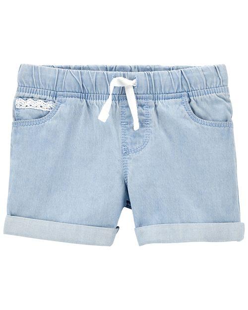 Shorts Ajustables De Mezclilla Carter's