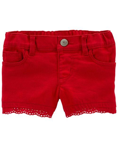 Shorts Elásticos Con Encaje Oshkosh B'Gosh