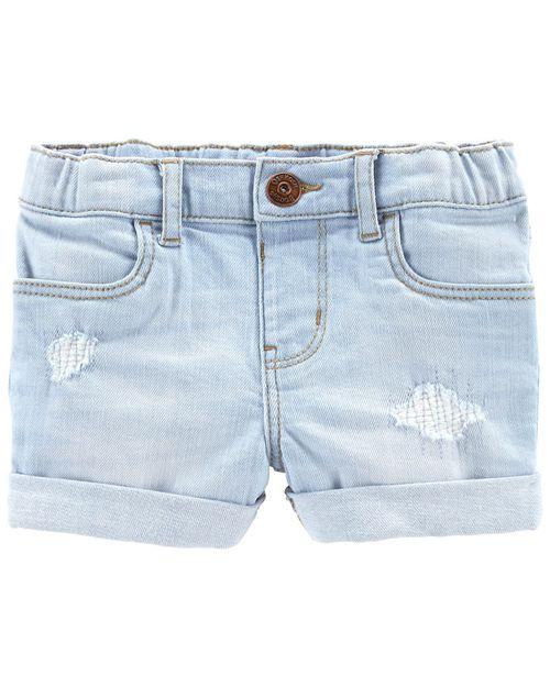 Shorts Elásticos De Mezclilla Con Diseño De Parche Oshkosh B'Gosh