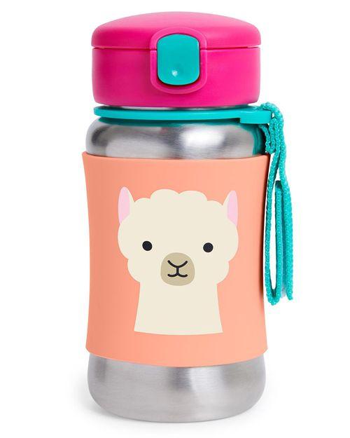Botella De Acero Inoxidable Con Popote Zoo Llama Skip Hop