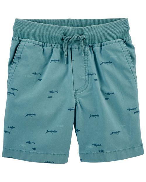 Shorts De Lona Con Elástico Ajustable Oshkosh B'Gosh