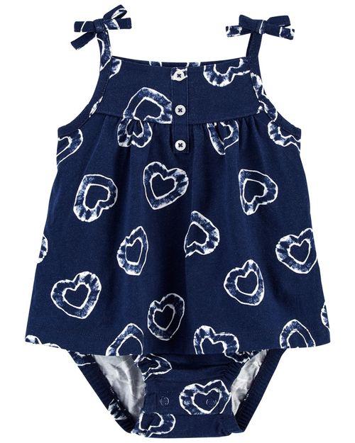 Vestido Con Estampado De Corazón Carter's