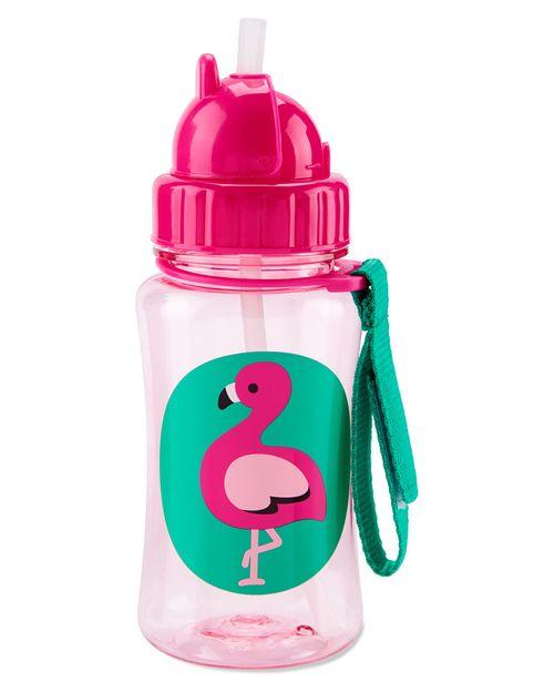 Botella Con Popote Flamingo Colección Zoo Skip Hop