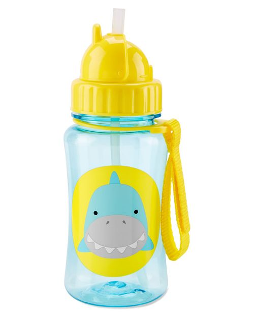 Botella Con Popote Tiburón Colección Zoo Skip Hop