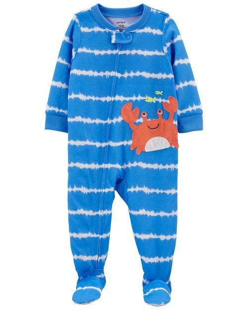Pijama De 1 Pieza, Ajuste Suelto Con Pies, Diseño De Cangrejo Carter's