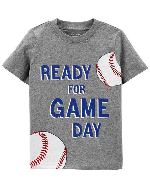 """Playera De Jersey Con Diseño De """"Ready For Game Day"""" Carter's"""