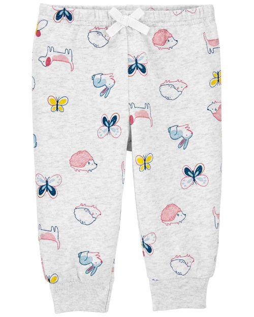 Pantalones Elásticos De Tela Polar Carter's