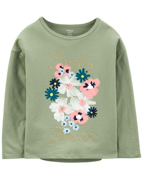 Playera De Jersey Con Estampado Floral Carter's