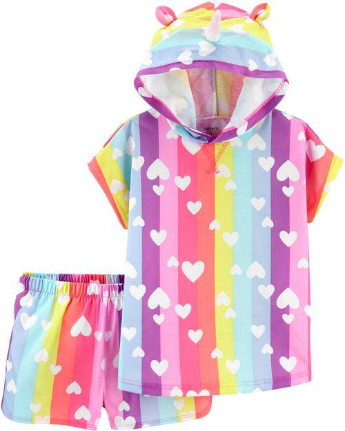 Pijama De Poliéster Con Capucha De Unicornio De 2 Piezas. Carter's