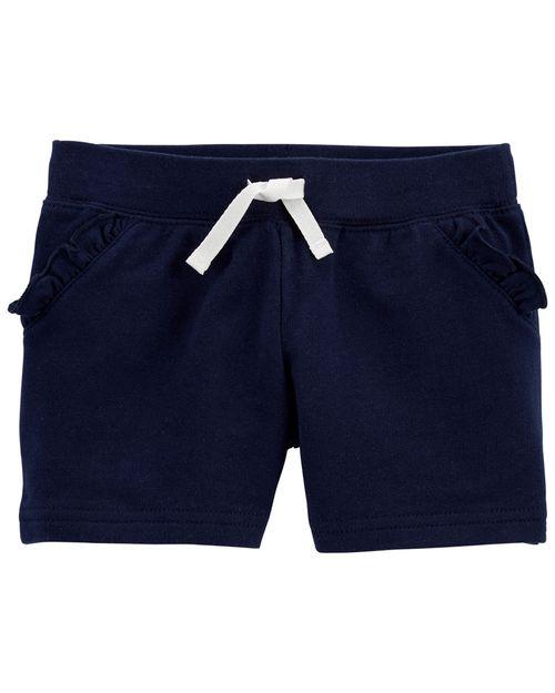 Shorts De Felpa Francesa Con Cordones Decorativos Bolsillos Con Olanes Oshkosh B'Gosh